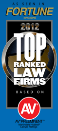 As Seen in Fortune Magazine 2012 Top Ranked Law Firms