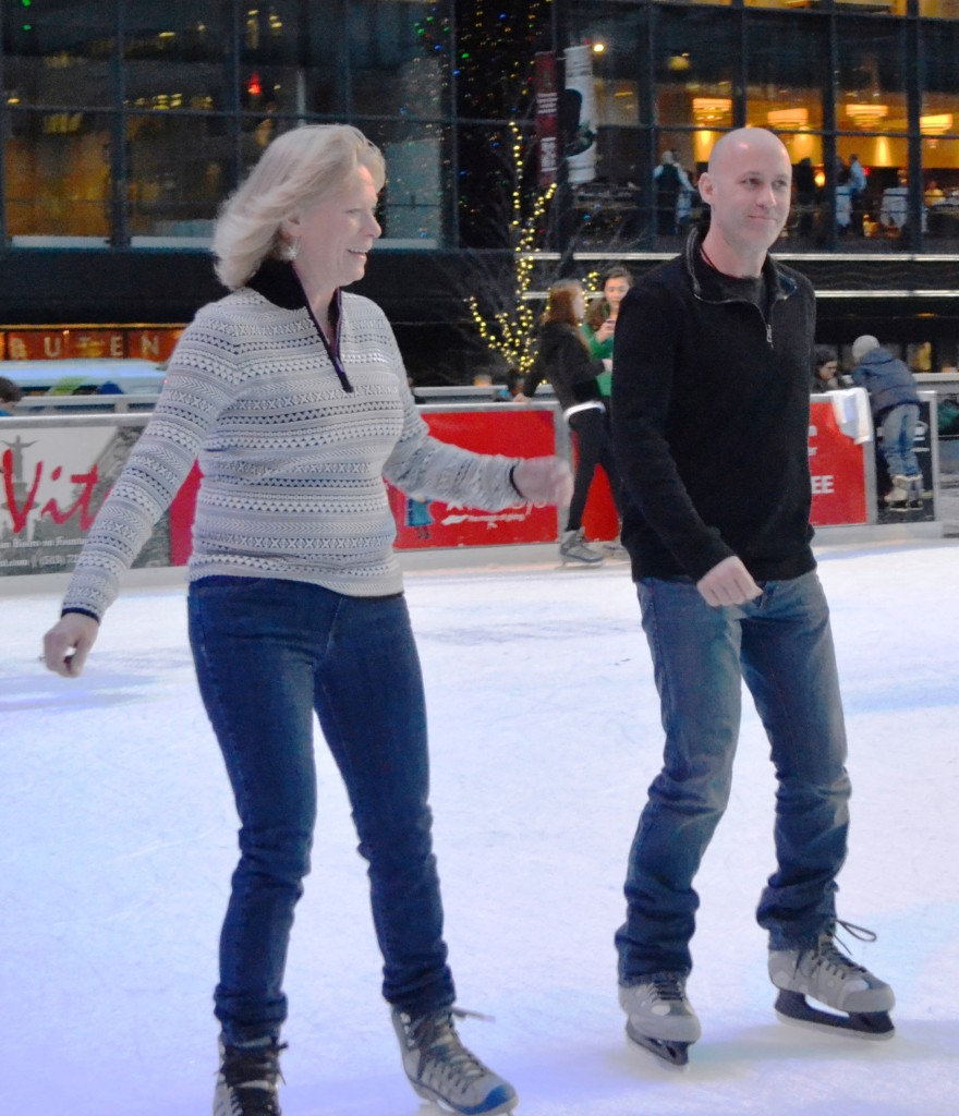 Free ice skating and skate rentals, courtesy of Strauss Troy