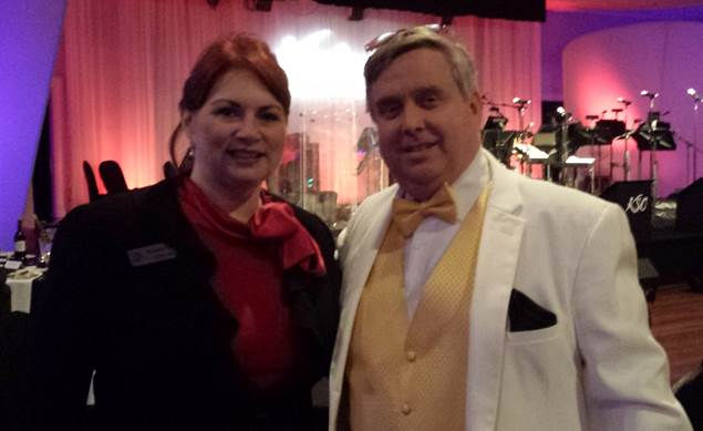 Director of Marketing Pam Gilchrist with Kentucky Symphony Orchestra Director J.R. Cassidy