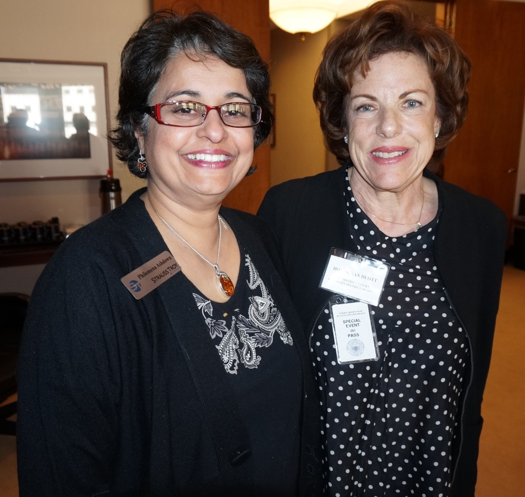 Strauss Troy Attorney Philomena Ashdown (l) With Esteemed Guest Federal Judge Susan Dlott At Strauss Troy Networking Event