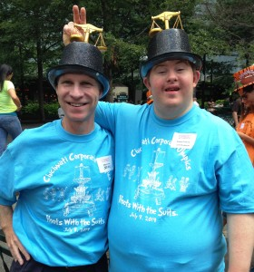 Strauss Troy Attorney Brian O'Connell (l) With Special Olympian Justin Mossburger