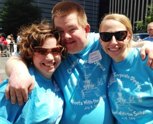 Strauss Troy Attorney Erinn McKee Hannigan (l) Enjoying The Corporate Olympics With Special Olympian Justin Mossburger & Lucy McCormack