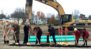 Loveland Station Groundbreaking, Tony Barlow, Strauss Troy