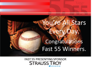 Strauss Troy Fast 55 All Stars Graphic 2015 You're All Stars Every Day. Congratulations Fast 55 Winners.