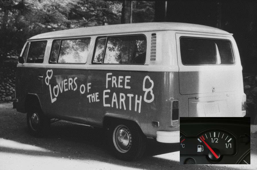 VW Combo Bus Free Earth And Empty Gas Tank