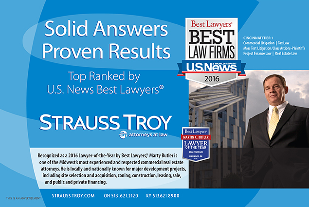 Strauss Troy Real Estate Attorney Marty Butler Named Lawyer-of-the-Year by Best Lawyers