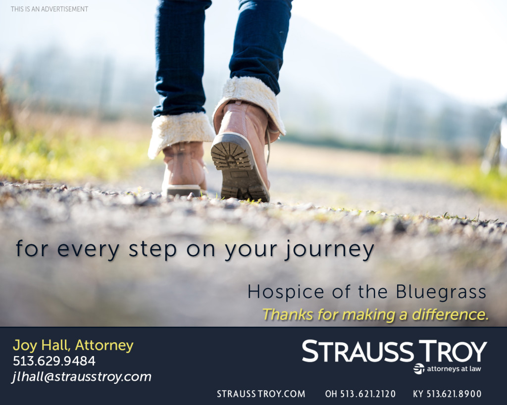 Strauss Troy Honored to support Hospice of Bluegrass on Every Step On Your Journey