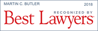 Marty Butler has been recognized by Best Lawyers 2018