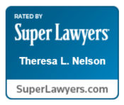Theresa Nelson is recognized by Super Lawyers.