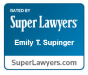Emily Supinger is recognized by Super Lawyers.