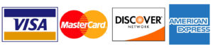 Icons of Visa, MasterCard, Discover, and American Express